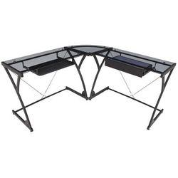 Soho Computer Corner Desk w/ Smoked Glass - Regency HCLG6060