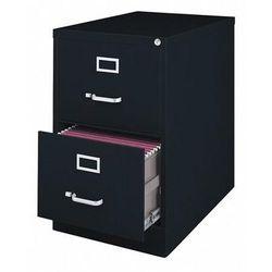 "HIRSH 14413 18"" W 2 Drawer File Cabinet, Black, Legal"