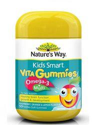 Nature's Way-kids Smart Vita Gummies Omega 3+ Multi 50 Pastilles (last