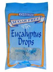 Johnsons Eucalyptus Drops (sugar Free) 50g