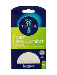 Maseur Footcare Foam Latex Comfort Insole Shock Absorbing Insole All