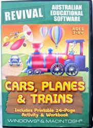 Cars Planes Trains Age 3-8 Windows 7 Computer Game Word Find Reading