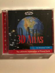 3d Atlas 1995 Windows 95 Cd-rom Reference Map Educational Geography