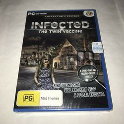 Pc Cd Rom Infected The Twin Vaccine Collector's Edition And Sealed