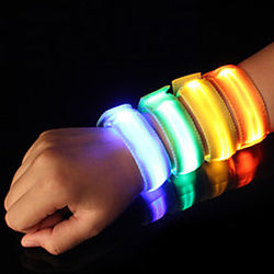 Reflective Band LED Running Armband Safety High Visibility for Camping / Hiking / Caving Running Cycling / Bike Nylon Red Blue Yellow Battery