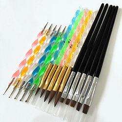 15pcs Accesorios para uñas Durabilidad y fuerza de peso ligero Diseño Único Clásico Diario Cepillos de uñas para