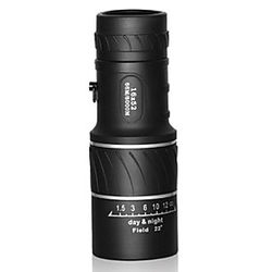 16 X 55 mm Monocular Alta Definición Maletín Visión nocturna Caucho
