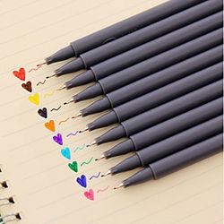pluma del gel Bolígrafo Plumas del color de agua Bolígrafo, El plastico Rojo / Negro / Azul colores de tinta Para Suministros de la escuela Material de oficina