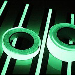 400 2cm resplandor en luz oscura luminosa cinta verde fluorescencia pegatina noche luminosa cinta tira decoración para la escalera