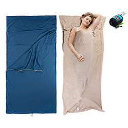 Bolsa de dormir para acampar Al aire libre Cámping Sobre / Bolsa rectangular 15 °C Sencilla Algodón Portátil Transpirable Templado Utra ligero (UL) Cómodo Agra