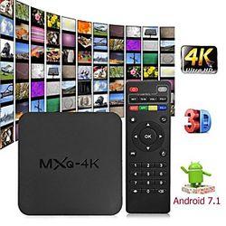 mxq 4k android 7.1 2.4g wifi dlna smart tv box rk3229 quad core 1g 8g set-top box media player