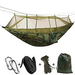 SWIFT al aire libre Hamaca para camping con red antimosquitos Doble hamaca Al aire libre Portátil Transpirable Secado rápido A Prueba de Humedad Bien Ventilado