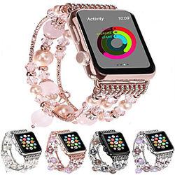 1 pcs Ver Banda para Apple iWatch Diseño de la joyería Cerámica Reemplazo Correa de Muñeca para Apple Watch Series SE / 6/5/4/3/2/1 38 mm 40 mm 42 mm 44 mm