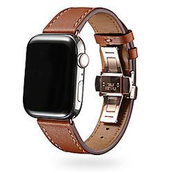 1 pcs Ver Banda para Apple iWatch Banda de negocios Cuero Auténtico Reemplazo Correa de Muñeca para Apple Watch Series SE / 6/5/4/3/2/1 38 mm 40 mm 42 mm 44 m