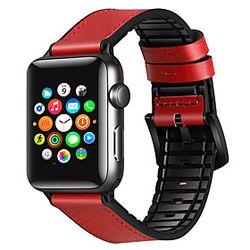 1 pcs Ver Banda para Apple iWatch Hebilla Clásica Banda de negocios Silicona Cuero Auténtico Reemplazo Correa de Muñeca para Fénix 5 Apple Watch Serie 5 Apple