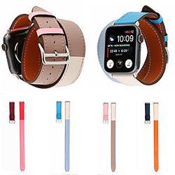 1 pcs Ver Banda para Apple iWatch Correa Deportiva Cuero Auténtico Reemplazo Correa de Muñeca para Apple Watch Series SE / 6/5/4/3/2/1 38 mm 40 mm 42 mm 44 mm