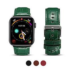 1 pcs Ver Banda para Apple iWatch Banda de negocios Cuero Auténtico Reemplazo Correa de Muñeca para Apple Watch Serie 4 Apple Watch Series SE / 6/5/4/3/2/1 Ap