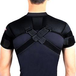 Hombrera para Aptitud física Boxeo Baloncesto Facilmente Ajustable Fácil vestidor Térmica / caliente Hombre Mujer Poliamida 1 PC Entrenamiento Deportes Negro