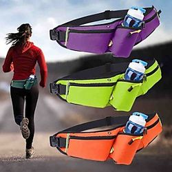 Running Belt Fanny Pack Belt Pouch / Belt Bag for Hiking Outdoor Exercise Running Traveling Sports Bag Adjustable Waterproof Portable Nylon Women's Men's Runni