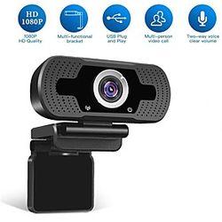 cámara web hd usb 1080p 90 ° grado rango súper gran angular ganancia de poca luz micrófonos duales conferencia empresarial ajustable cámara web plug and play s