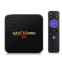 Smart tv box mx10 pro android 9.0 allwinner h6 uhd 4k reproductor de medios 6k decodificación de imágenes 4gb 32gb 2.4g wifi tv box