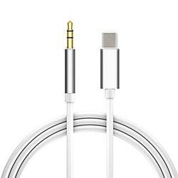 adaptador de conector auxiliar de audio de tipo c a 3,5 mm usb c a cable de audio de 3,5 mm adaptador de auriculares de cable auxiliar de coche