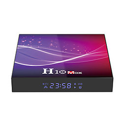 h6 quad-core android 10 network television set-top box 4 k alta wifi reproductor inteligente inalámbrico