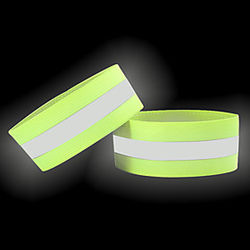 reflective bands for arm, wrist, ankle, leg. reflector bands. high visibility reflective running gear for women and men cycling walking bike safety tape straps