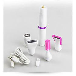 Depiladora de carga USB eléctrica multifunción para damas, afeitadora de pelo, dispositivo de depilación de lavado de cejas