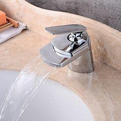 grifo del lavabo del baño - extraiga bronce frotado con aceite / latón antiguo juego central grifos de un orificio de una sola manija