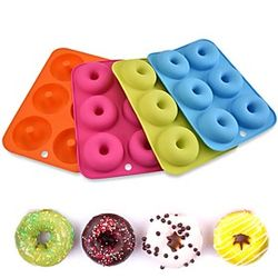 Molde de donut diy pastel hornear donut haciendo color aleatorio 1 pieza