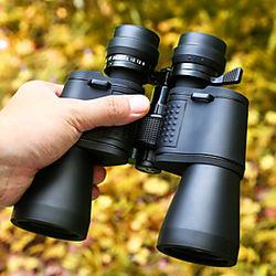 9-27 X 50 mm Binoculares más lejos Visión nocturna en baja luz Alta Definición Portátil Resistente a la intemperie 72/1000 m Revestimiento Múltiple Completo BA