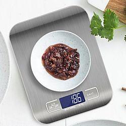 Báscula de cocina de 5 kg, balanza de acero inoxidable, dieta de alimentos, balanza postal, balanzas electrónicas lcd de medición