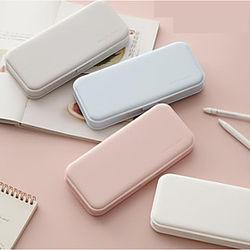 macaron simple caja de papelería para estudiantes ins wind estuche de lápices de almacenamiento de gran capacidad sin impresión estuche de lápices pp helado