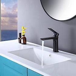 grifo del lavabo del baño estilo de servicio pesado palanca monomando orbe de baño de un solo orificio grifo de bronce frotado con aceite montaje en cubierta g