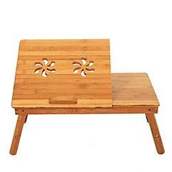 mesa de centro moderna, mesas plegables muebles de sala de estar de diseño ergonómico marrón de bambú contemporáneo