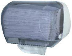 Mar Plast A66601 papieren handdoekdispenserrol/-vorm, wit/transparant, 320 x 160 x 160 mm