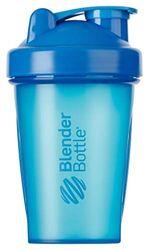 BlenderBottle Classic Botella de agua | Botella mezcladora de batidos de proteínas | con batidor Blenderball | libre de BPA | 590ml - Cyan