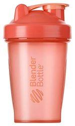 BlenderBottle Classic Botella de agua | Botella mezcladora de batidos de proteínas | con batidor Blenderball | libre de BPA | 590ml - coral
