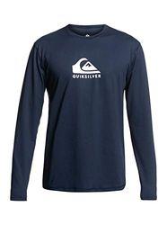 Quiksilver Herren Solid Streak Rash-Guard-Shirt, Opacity, Navy Blazer, X-Small