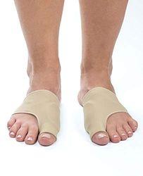 Sole Essentials Ballenzeh-Bandagen, korrigiert Ballenzehen und reduziert Schmerzen, weiche Gel-Zehenstütze, Beige (beige), Small/Medium