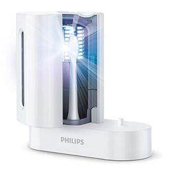 Philips Sonicare UV-opzetborstelreiniger - UV-reinigingstechnologie - Beschermt tegen ziektekiemen - Automatische uitschakeling - Opzetborstel hygiënisch opbergen - HX6907/01
