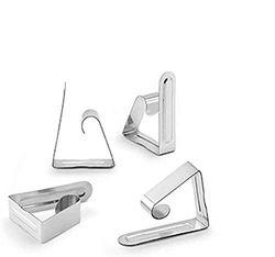 Inofix 66540 Tischdeckenklammer Metall, 4 Stück, Kunststoff