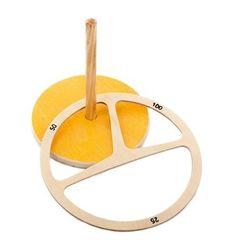 Spordas 1010390 Wurfspiel mit Ring, Holz, Retro