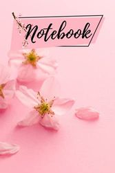 Cherry Blossom Notebook: Cute pink Cherry Blossom Design Cover Notebook for Her, Floral Cherry Blossom Lovers