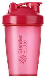 BlenderBottle Classic Shaker met blenderBall, optimaal geschikt als eiwitshaker, proteïneshaker, waterfles, drinkfles, BPA-vrij, schaalt tot 400 ml, inhoud 590 ml, roze transparant