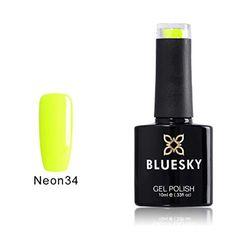 Bluesky N34 Soak-Off-Gel-Nagellack, 10 ml, Sorbet Zest Neon
