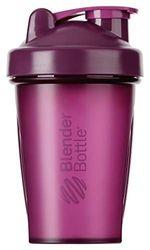 BlenderBottle Classic Botella de agua | Botella mezcladora de batidos de proteínas | con batidor Blenderball | libre de BPA | 590ml - Plum