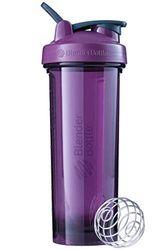 BlenderBottle Pro24 - Botella de agua, Botella mezcladora de batidos de proteínas, con batidor Blenderball, libre de BPA, 710ml - plum