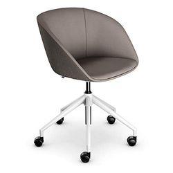 Sedus Bürostuhl, Loungechair, Clubsessel, Wohnzimmerstuhl, Graubraun, kompakt, bequem